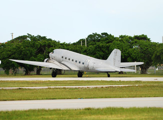Classic DC-3 airplane