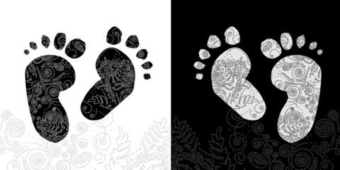 pieds tatouage