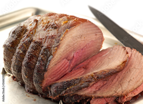 carved roast beef
