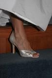 elegant bride high heel shoe wedding poster