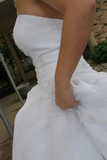 hold white dress gown elegant poster
