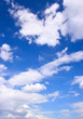 Blue sky and clouds, may be used as background