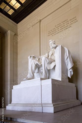 Abraham Lincoln monument in Washington D.C.