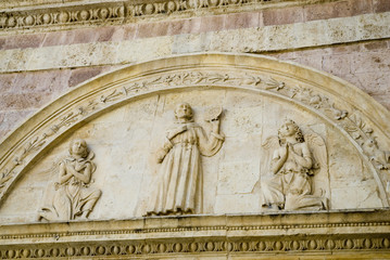 detail of basilica Francis in Assisi