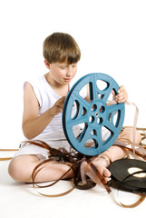 winding up a retro celluloid movie