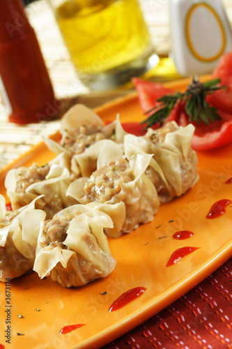 An image of a chinese dimsum dish Poster