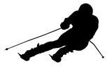Silhouette of a skier. Sports. Winter. Snow. Extreme. poster