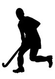 Russian Hockey Player Silhouette. poster