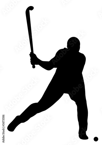 Russian Hockey Player Silhouette.