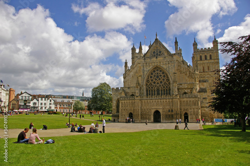 Leinwanddruck Bild Exeter Cathedral