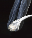 Lan cable connector poster