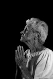 Very Old Woman Praying to the Lord poster