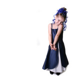 Adorable Young Child in Glamour Play Attire poster