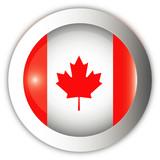 Canada Flag Aqua Button poster