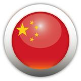 China Flag Aqua Button poster