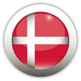 Denmark Flag Aqua Button poster
