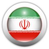Iran Flag Aqua Button poster