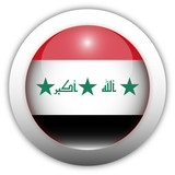 Iraq Flag Aqua Button poster