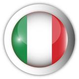 Italy Flag Aqua Button poster