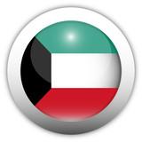 Kuwait Flag Aqua Button poster
