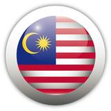 Malaysia Flag Aqua Button poster