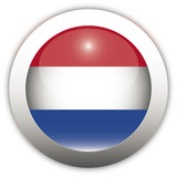 Netherland Flag Aqua Button poster