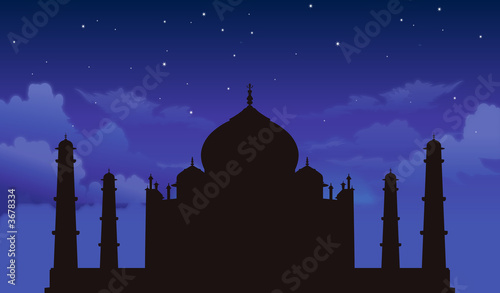 Taj Mahal with Stars