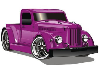 Purple GAZ Hot Rod