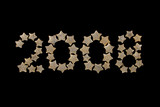 New Year 2008 spelled out in gold stars poster