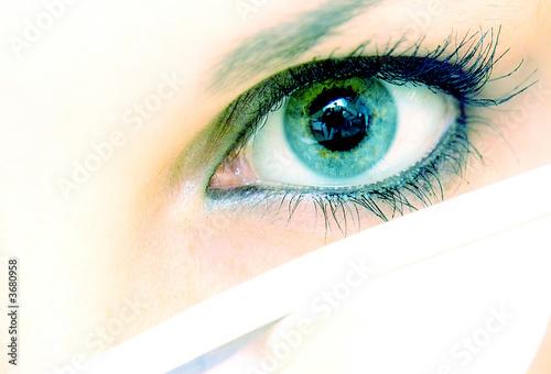 Fototapeten,anblick,eyeball,wimper,blau