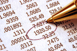 Stock Chart - important stock quote marked with pen poster
