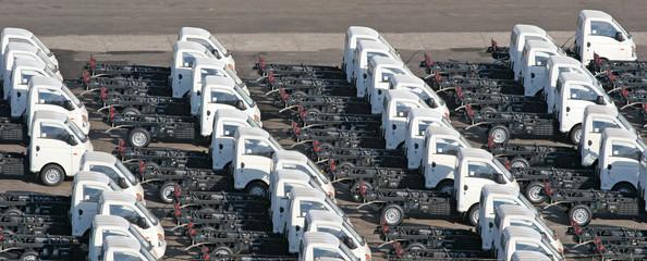 Trucks on Pier