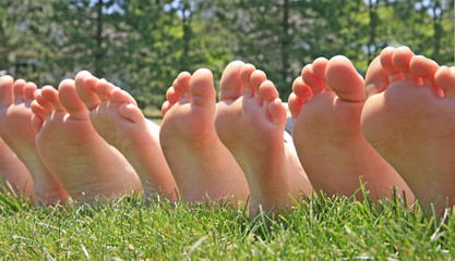 Bare Feet in a Row