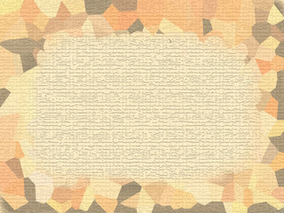 Grunge border on paper texture - digital illustration