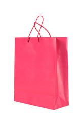 Dark pink paper shopping bag