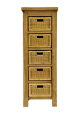 Cabinet with drawers on a white background poster
