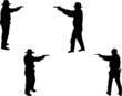 gunmen silhouettes