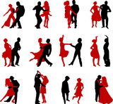 Fototapety dance silhouettes