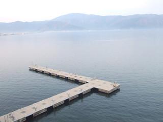 pier in Aegean sea