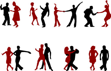dance music silhouettes