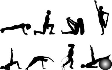 exercise silhouettes