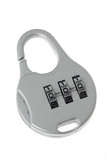 Combination lock isolated on white background.. poster