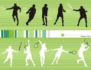 composicion de tenis en vector