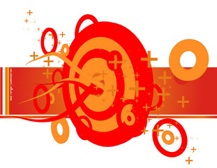 composicion de circulos en vector