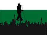 singer silhouette poster