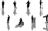 speech silhouettes poster