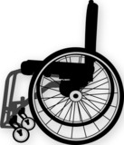 wheelchair illustration poster