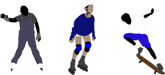 skating illustrations