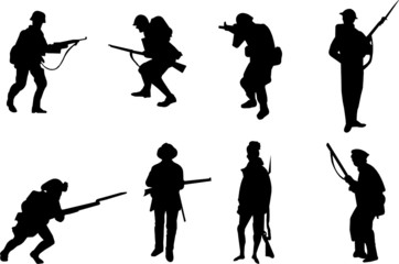 soldiers silhouettes