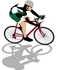 bicycle rider illustration